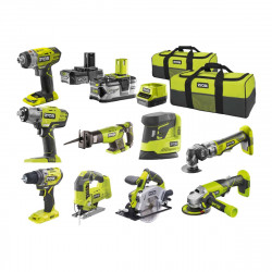Pack RYOBI Ultra-complet 9 outils - 2 batteries 2.0Ah et 4.0Ah - 1 chargeur - R18CK9A-242S