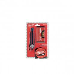 Pack MILWAUKEE Mètre 5m - Cutter - Niveau minibox 4932471129