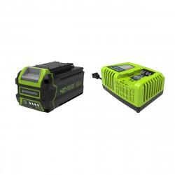Pack GREENWORKS 40V - 1 batterie 6,0Ah Lithium-ion - 1 Chargeur rapide