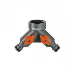 """Sélecteur 2 circuits GARDENA Pour robinet 26,5 mm G 3/4"""" et 21 mm 1/2"""" - 940-26"""