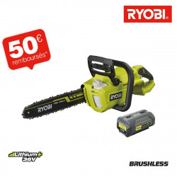 Tronçonneuse RYOBI 36V LithiumPlus Brushless - 1 batterie 5.0Ah - 1 chargeur RY36CSX35A-150