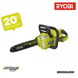 Tronçonneuse RYOBI 36V LithiumPlus Brushless - Sans batterie ni chargeur RY36CSX35A-0