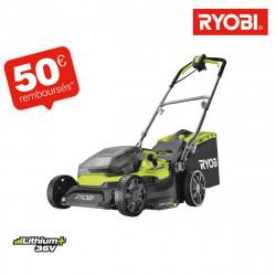 Tondeuse hybride RYOBI 36V LithiumPlus coupe 37cm - 2 batteries 5,0 Ah - 1 chargeur rapide RY18LMH37A-250