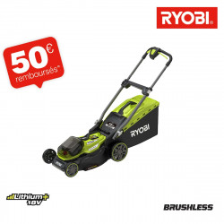 Tondeuse RYOBI 18V LithiumPlus Brushless - coupe 40cm - 2 batteries 4,0 Ah - 1 chargeur rapide - RY18LMX40A-240