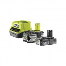 2 batteries RYOBI 18V LithiumPlus OnePlus 4.0 Ah/ 2.0Ah - 1 chargeur rapide RC18120-242G