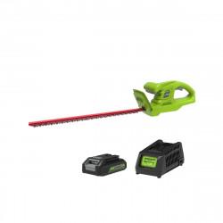 Taille-haies 57 cm GREENWORKS 24V - 1 batterie 2.0 Ah - 1 chargeur - G24HT57K2