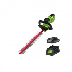 Taille-haies 61 cm GREENWORKS 40V - 1 batterie 2.0 Ah - 1 chargeur - G40HT61K2
