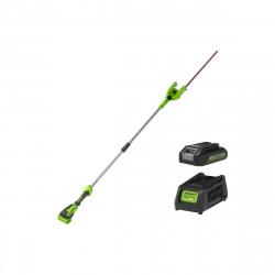 Taille-haies 51 cm GREENWORKS 40V - Sur perche - 1 batterie 2.0 Ah - 1 chargeur - G40PHAK2