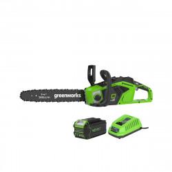 Tronçonneuse Brushless GREENWORKS 40V - 35 cm - 1 batterie 4.0 Ah - 1 chargeur - GD40CS15K4