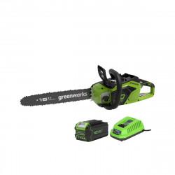 Tronçonneuse Brushless GREENWORKS 40V - 40 cm - 1 batterie 4.0 Ah - 1 chargeur - GD40CS18K4