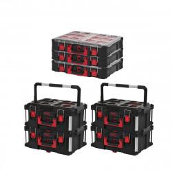 Pack MILWAUKEE PACKOUT 4 Coffrets de transport 62L Taille 3 - 3 Organiseurs 10 casiers épais