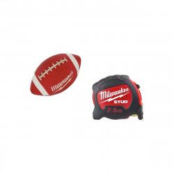 Pack MILWAUKEE Mètre ruban 7,5m stud 27mm - ballon football américain