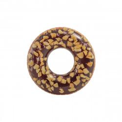Bouée gonflable donut au chocolat - 114 cm de diamètre