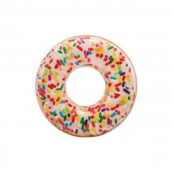 Bouée gonflable donut avec paillettes de sucre - 114 cm de diamètre
