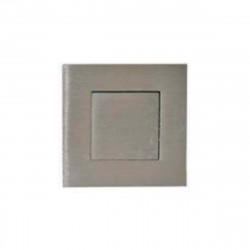 Poignées cuvettes carrée à encastrer - Avec platine poussoir - Diamètre 52 mm - Inox Brossé