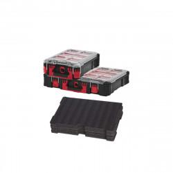Pack MILWAUKEE PACKOUT Organiseur 10 casiers épais - Organiseur 5 casiers - insert personnalisable