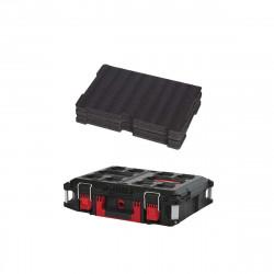 Pack MILWAUKEE PACKOUT Coffret de transport 40L Taille 2 - Insert personnalisable