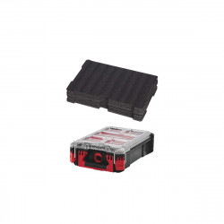 Pack MILWAUKEE PACKOUT Organiseur 5 casiers - Insert personnalisable