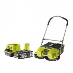 Pack RYOBI Balayeuse motorisée 18V OnePlus R18SW3-0G - 1 Batterie 2.5Ah - 1 Chargeur rapide RC18120-125