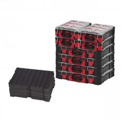 Pack MILWAUKEE PACKOUT 4 Organiseurs 10 casiers épais - 4 Organiseurs 5 casiers - 2 Inserts personnalisables