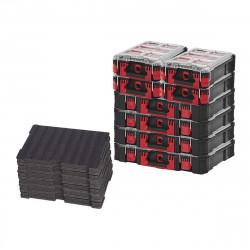 Pack MILWAUKEE PACKOUT 4 Organiseurs 10 casiers épais - 4 Organiseurs 5 casiers - 3 Inserts personnalisables