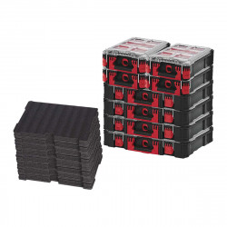 Pack MILWAUKEE PACKOUT 4 Organiseurs 10 casiers épais - 4 Organiseurs 5 casiers - 4 Inserts personnalisables