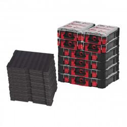 Pack MILWAUKEE PACKOUT 4 Organiseurs 10 casiers épais - 4 Organiseurs 5 casiers - 5 Inserts personnalisables