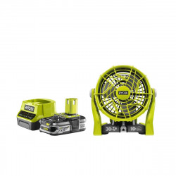 Pack RYOBI Ventilateur 2 vitesses 18V OnePlus R18F-0 - 1 Batterie 2.5Ah - 1 Chargeur rapide RC18120-125