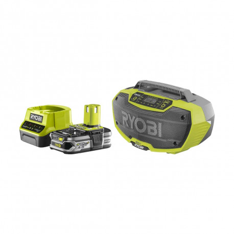 Pack RYOBI Radio d'atelier 18V OnePlus R18RH-0 - 1 Batterie 2.5Ah - 1 Chargeur rapide RC18120-125