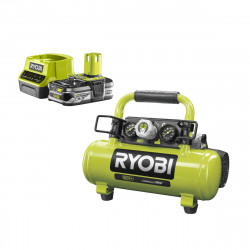 Pack RYOBI Compresseur à cuve 18V One Plus - 4L R18AC-0 - 1 Batterie 2.5Ah - 1 Chargeur rapide RC18120-125