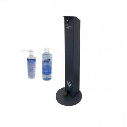 Pack Distributeur sans contact OCCIGEL - 2 flacons de gel hydroalcoolique 500 ml - Gris