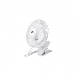 Ventilateur avec pince 15W - 15cm - Blanc 33961