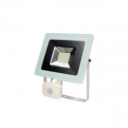 Projecteur MultiLed EDM avec détecteur de mouvement - 50W 3500 Lumens - Blanc