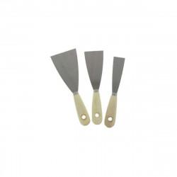 Kit 3 Spatules Manche en bois 30-50-80 mm