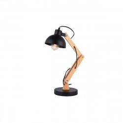 Lampe Flexo Architecte EDM Vintage en bois E27 Noir 60W