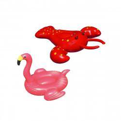 Pack Bouée gonflable Oscar le homard - Bouée gonflable Flamant rose - Géant