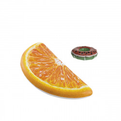 Pack Matelas de plage gonflable Quartier d'orange 178x85 cm - Pose-verre flottant modèle pastèque