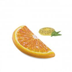 Pack Matelas de plage gonflable Quartier d'orange 178x85 cm - Pose-verre flottant modèle ananas