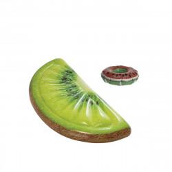 Pack Matelas de plage gonflable tranche de kiwi 178x85 cm - Pose-verre flottant modèle pastèque
