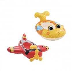Pack Matelas gonflable pour enfant modèle avion 119x107 cm - Matelas gonflable pour enfant modèle poisson 117x76 cm
