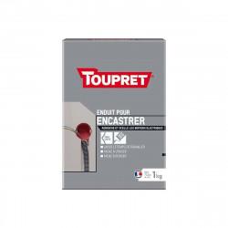 Enduit pour encastrer TOUPRET - Poudre - 1Kg - BCENCAS01