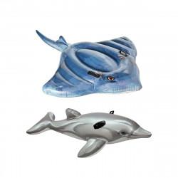 Matelas de plage gonflable raie 188x145 cm - Matelas de plage gonflable dauphin 175 cm