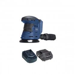 Pack SCHEPPACH Ponceuse excentrique sans fil 20V COS125-20ProS - 1 Batterie 2.0Ah - 1 Chargeur rapide