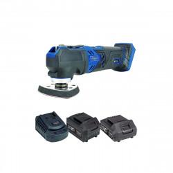 Pack SCHEPPACH Outil multifonctions sans fil 20V CMT200-20ProS - 1 Batterie 4.0Ah - 1 Batterie 2.0Ah - 1 Chargeur rapide