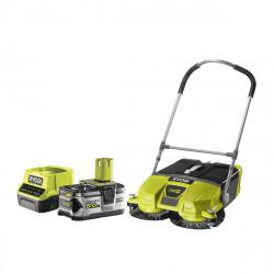 Pack RYOBI Balayeuse motorisée 18V OnePlus R18SW3-0G - 1 batterie 5.0Ah - 1 chargeur rapide 2.0Ah RC18120-150