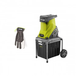 Pack RYOBI Broyeur de végétaux 2500W RSH2545B - Gants de jardinage Cuire Taille XL RAC810XL