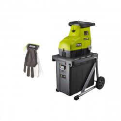 Pack RYOBI Broyeur de végétaux 3000W RSH3045U - Gants de jardinage Cuire Taille M RAC810M