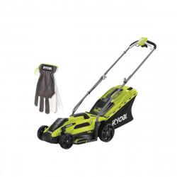 Pack RYOBI Tondeuse électrique 1300W Coupe 33cm RLM13E33S - Gants de jardinage Cuire Taille XL RAC810SXL