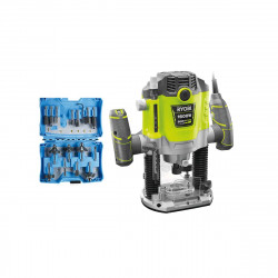 Pack défonceuse électrique RYOBI 1600W RRT1600P-K - Coffret pour défonceuse PRECISEFIT 15 fraises PF15RBS