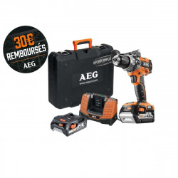 Perceuse percussion Brushless AEG 18V - 1 batterie 2.0Ah - 1 batterie 4.0Ah - chargeur BSB18C2BLL-X02C